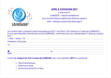 Loireadd - Appel à cotisation 2017