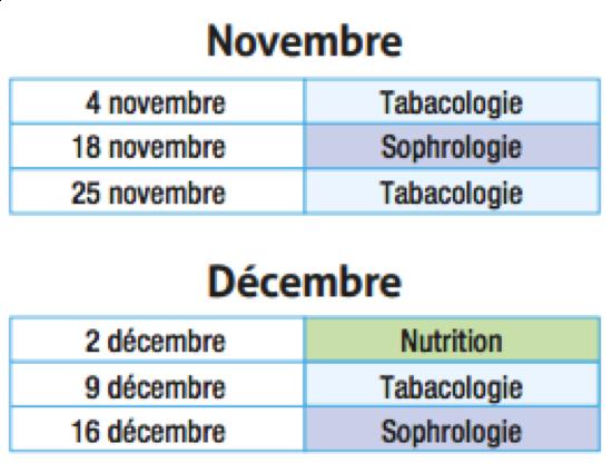 Les Lundis de LOIREADD - Planning de novembre et décembre