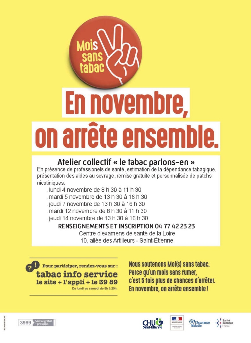 Affiche - En novembre, on arrête ensemble