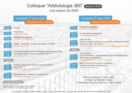 Colloque Addictologie 360 - Programme